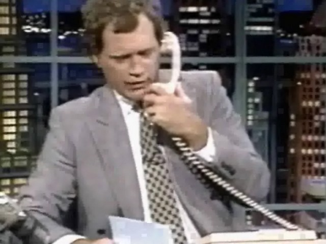 1990. Dave calls his mom, but reaches Sid Tuchman instead.